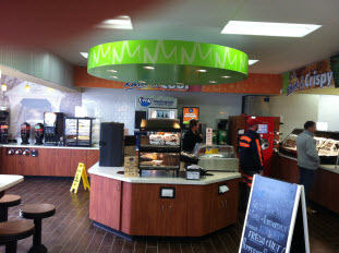 One of Carney and Sloan's projects involving the custom commercial cafeteria design
