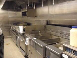 Carney and Sloan's custom kitchen projects involving deep fryers, ranges and hoods