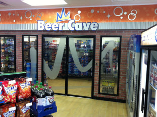 An image of a Beer Cave, designed by Carney & Sloan food service and equipment